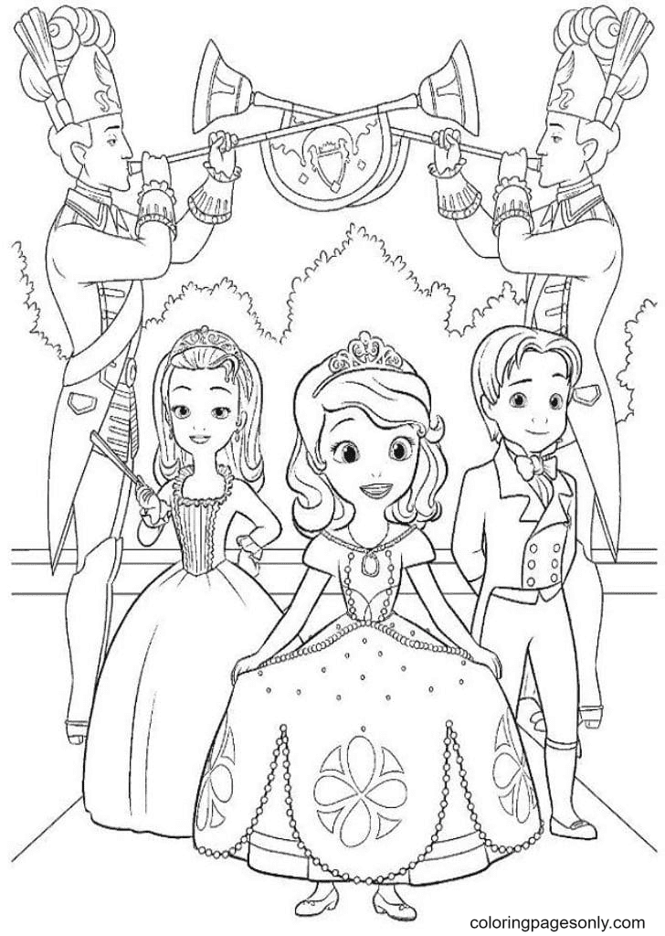 Sofia, Amber, James Coloring Page