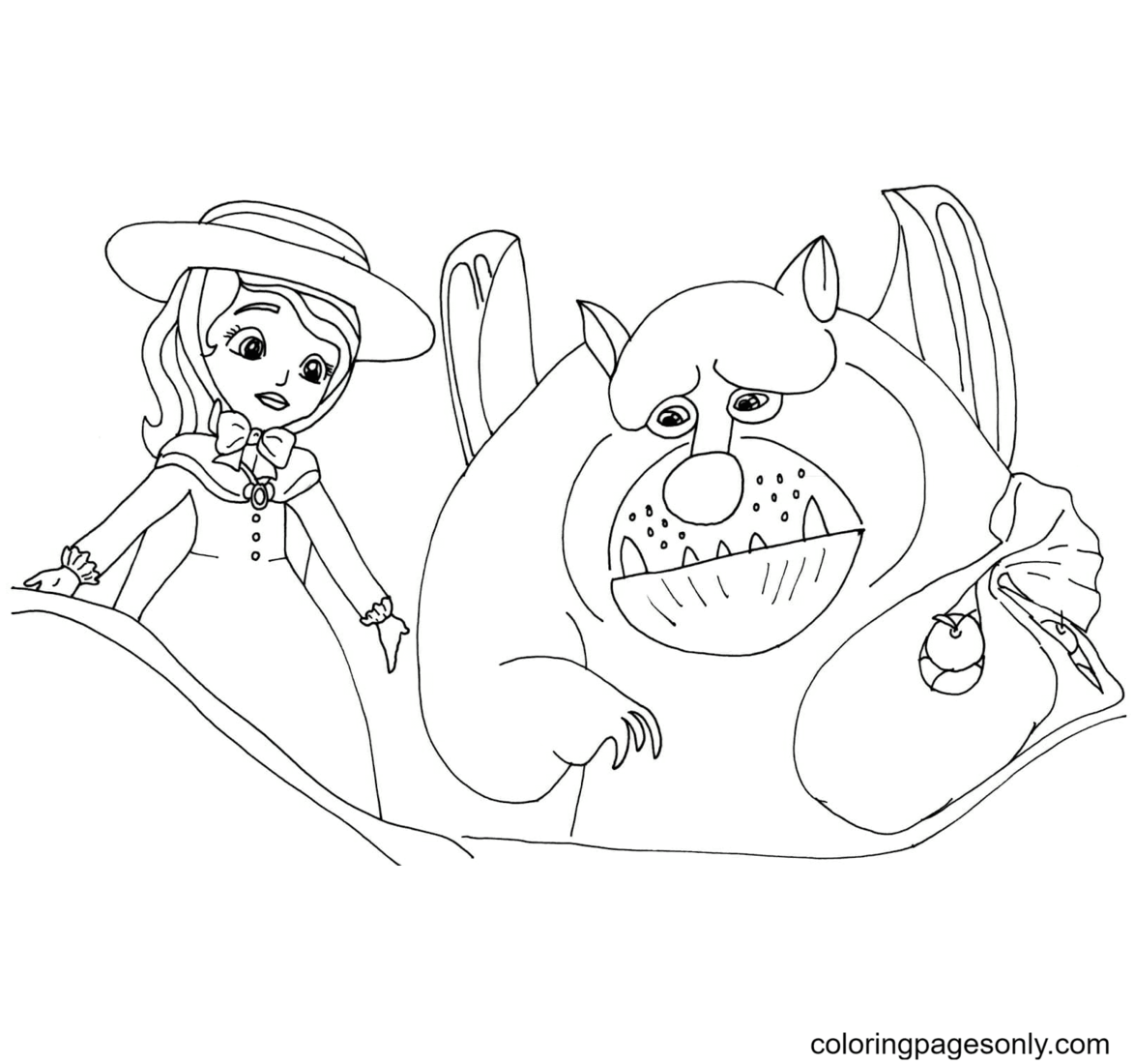 Sofia and her new friend Coloring Page
