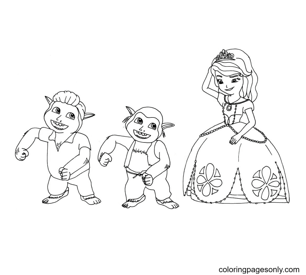 Sofia and the Trolls Coloring Page