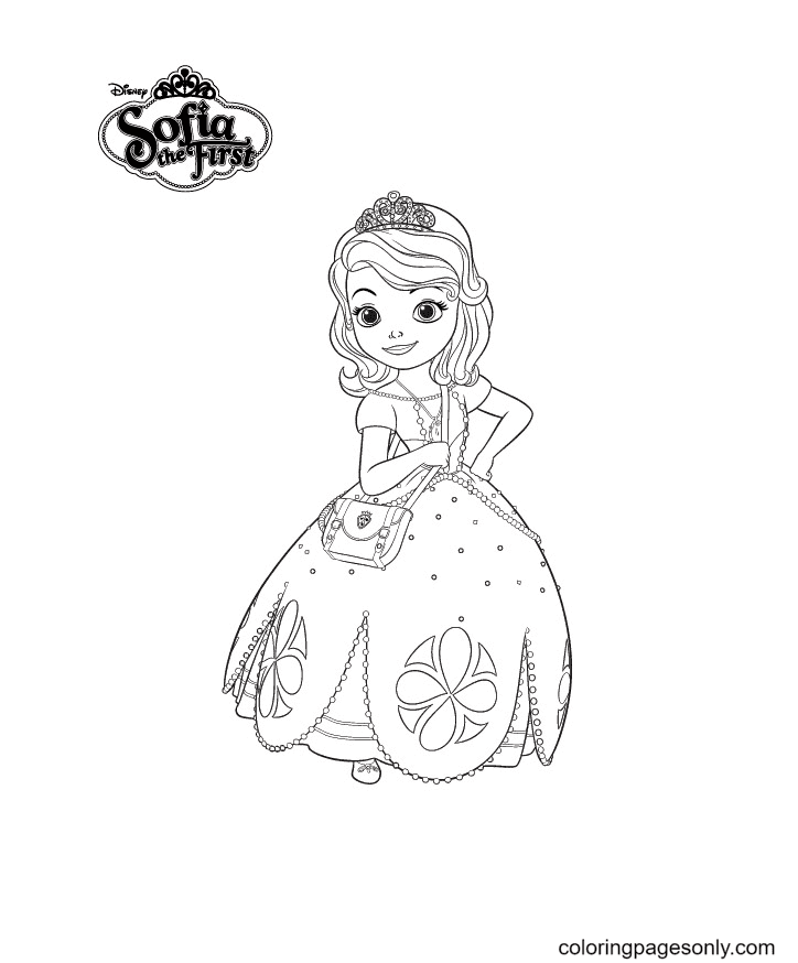 Sofia is Amazing Beautiful Coloring Page