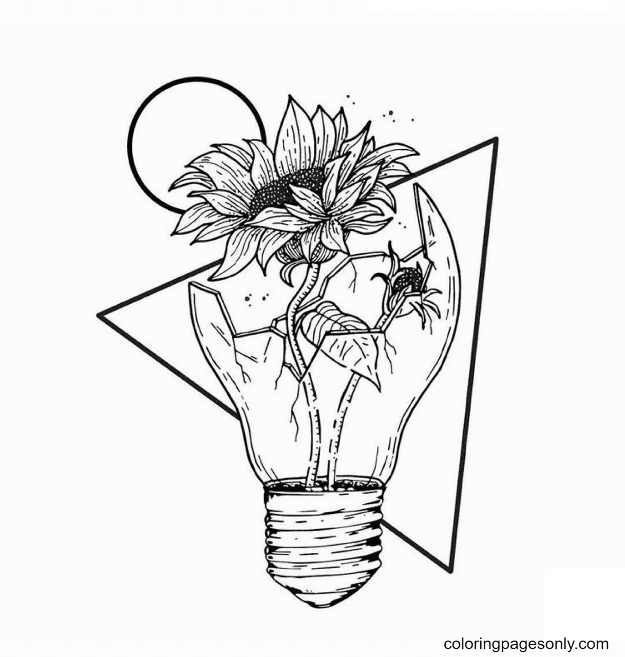 Space Unique Aesthetic Space Coloring Page