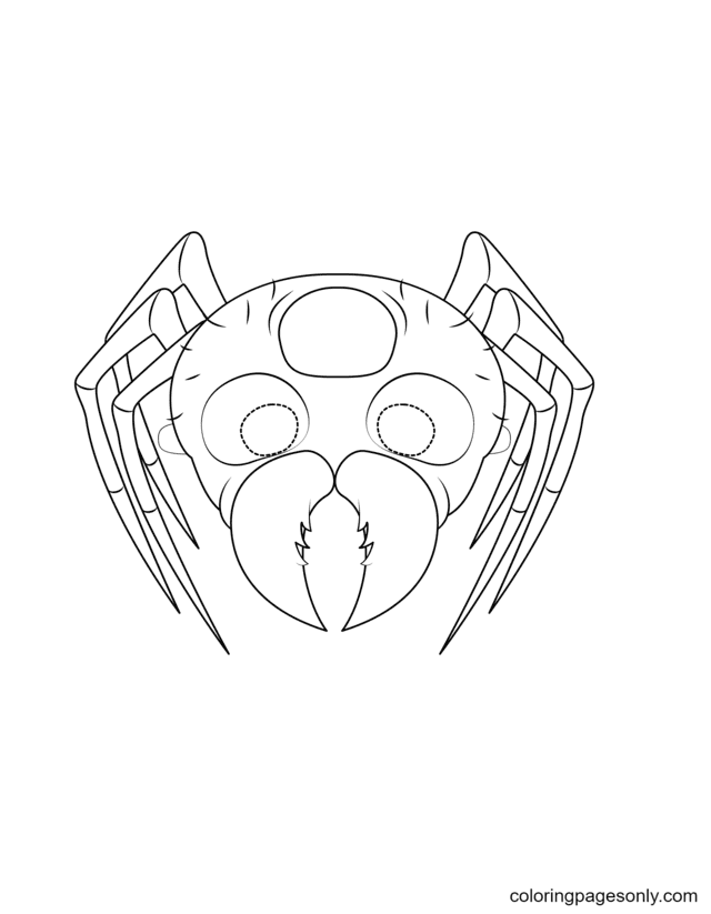 Spider Mask Coloring Page