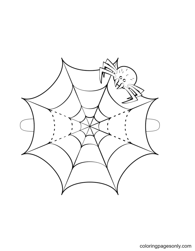 Spider Web Mask Coloring Page