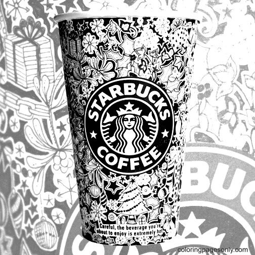 Starbucks Christmas Cup Coloring Page