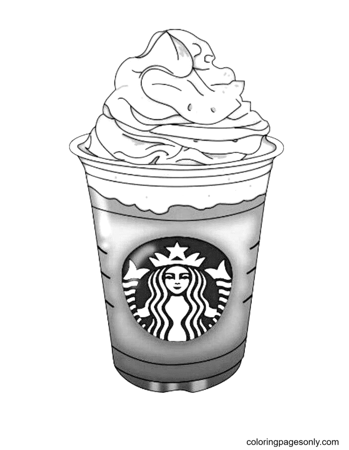 Starbucks Coffee Cup Printable Coloring Page