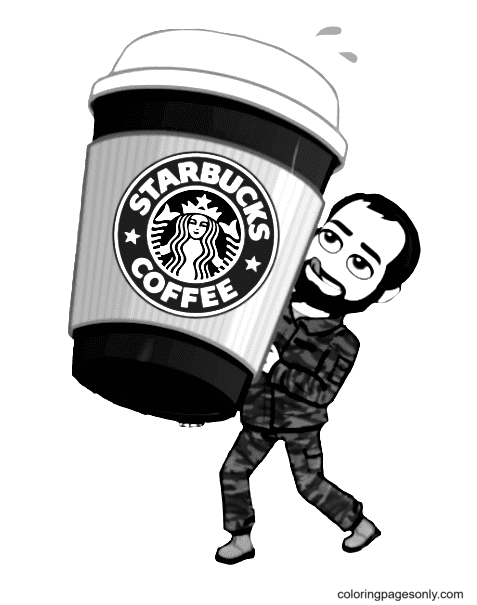 Starbucks Cup Coffee Coloring Page