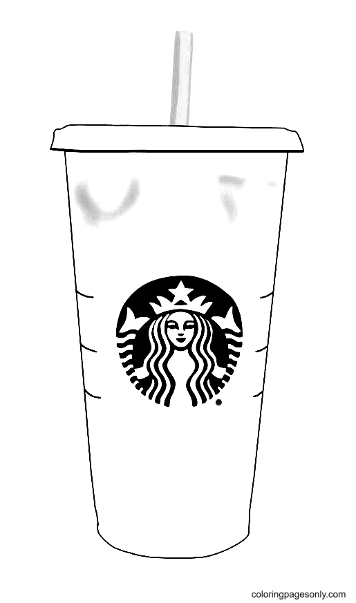 Starbucks Pink drink Coloring Page