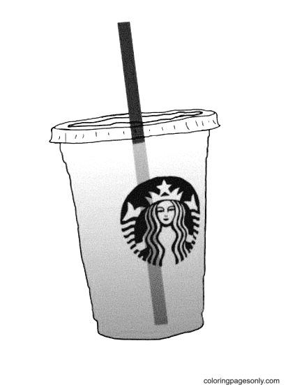 Starbucks Strawberry Coloring Page