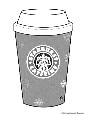 Starbucks coffee cups Coloring Page