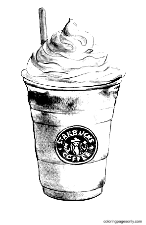 Strawberry Frappuccino Starbucks Coloring Page
