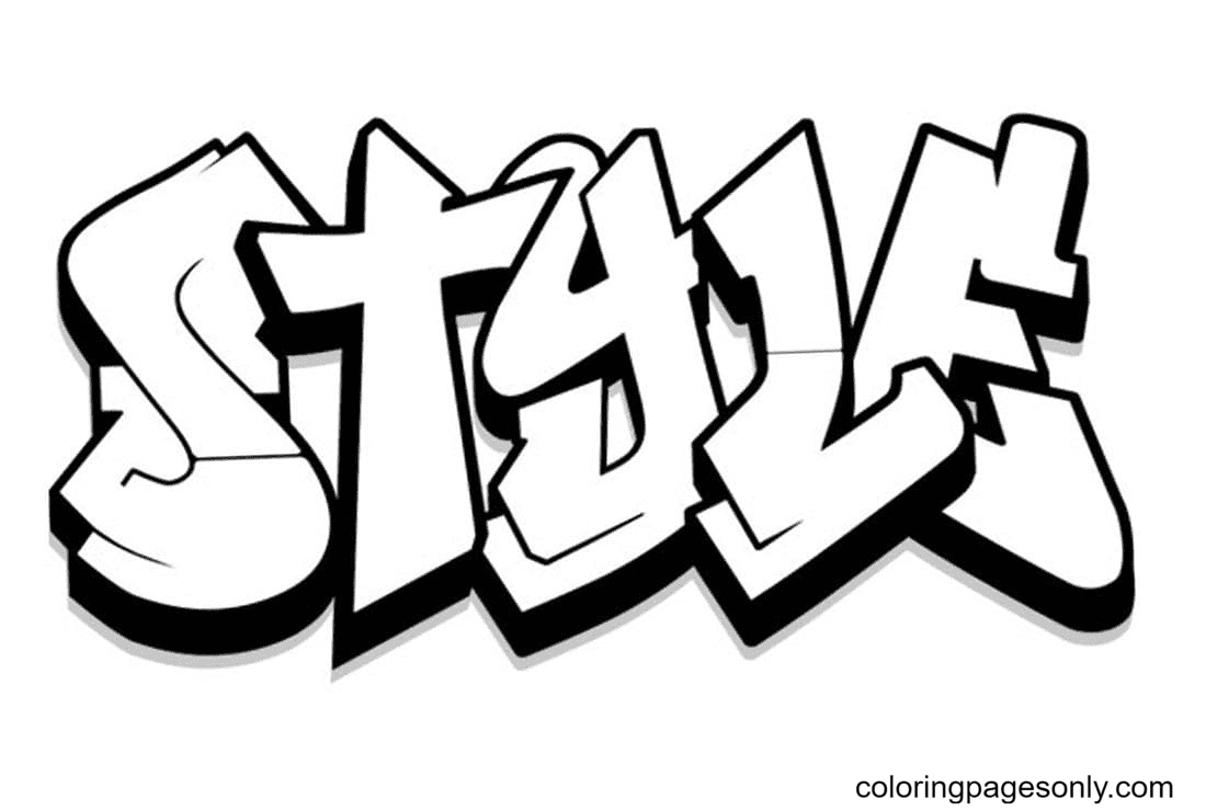 Style Coloring Page