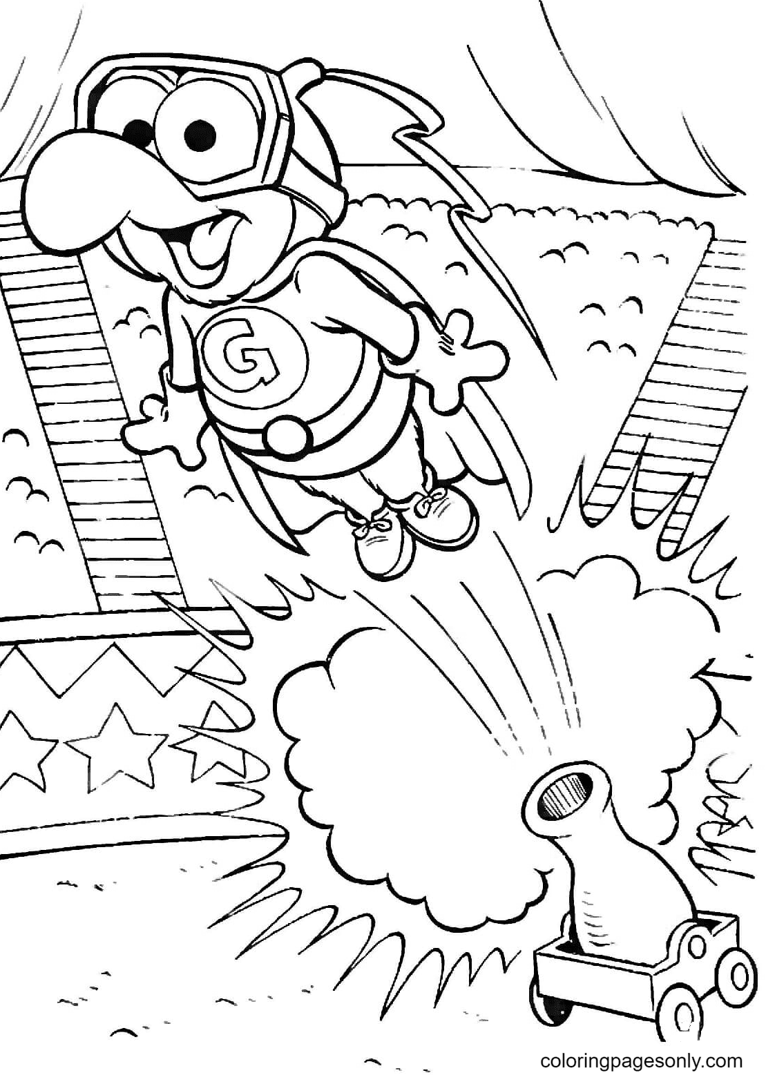 Super Gonzo Coloring Page