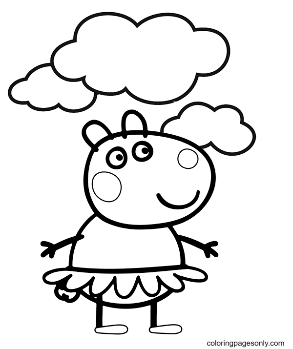 Suzy Sheep Coloring Page