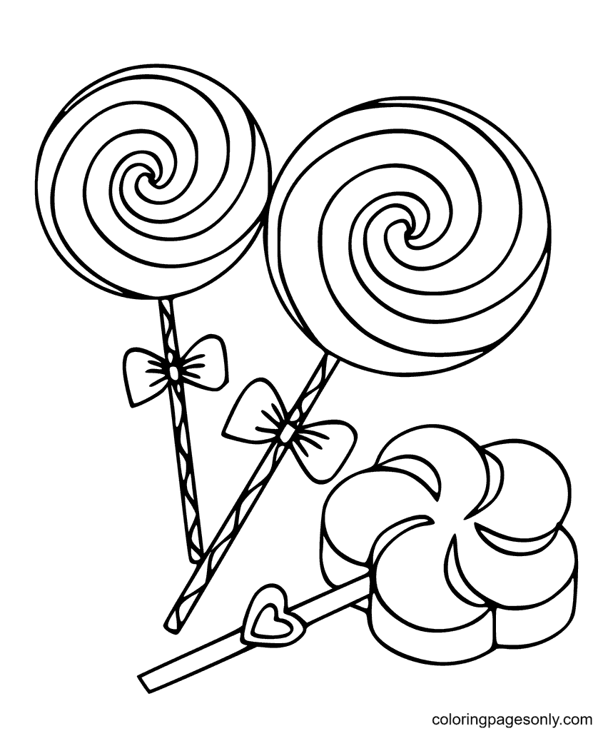 Sweet Candies Coloring Page