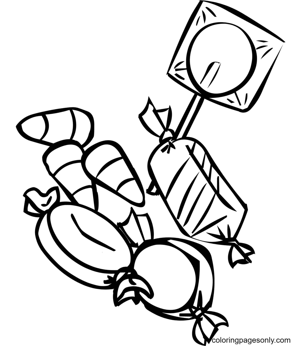 Sweet Candy Coloring Page