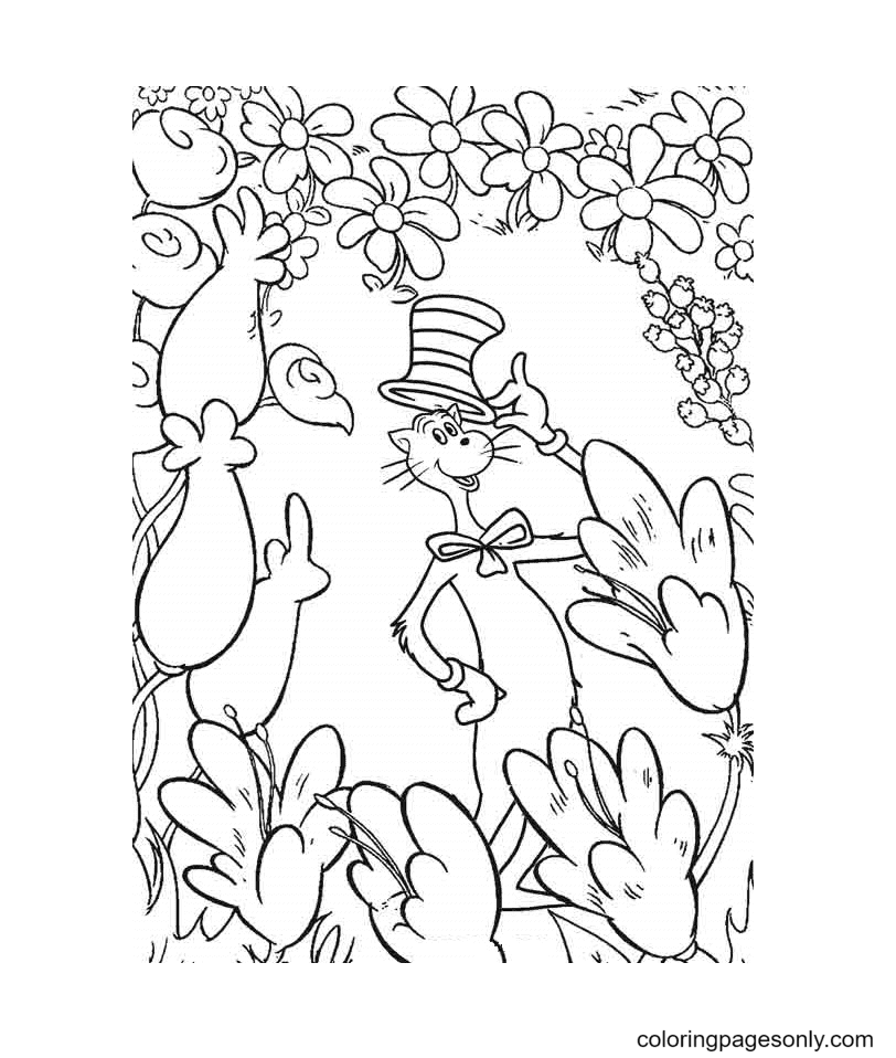 The Cat Posing Coloring Page