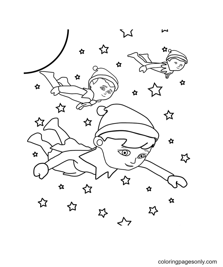 The Flying Elves Coloring Page