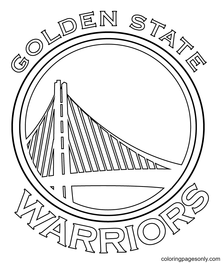 The Golden State Warriors Coloring Page