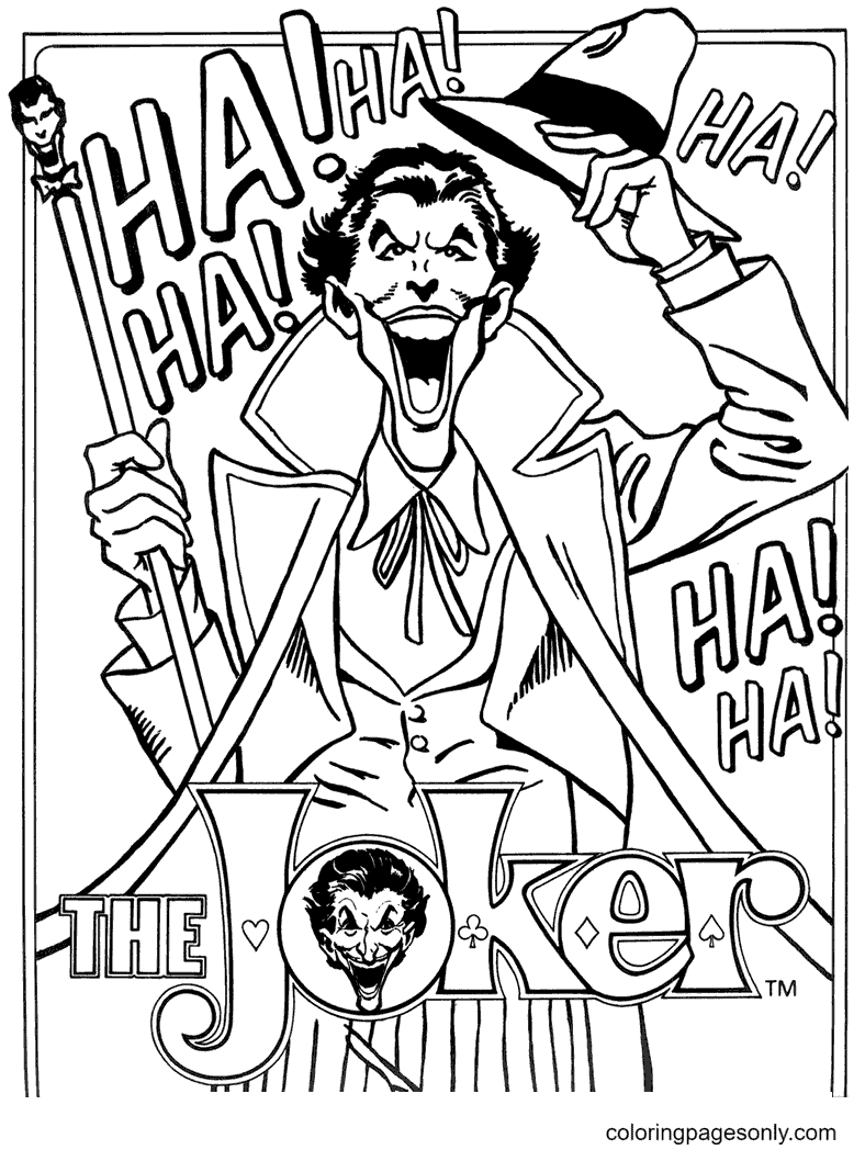The Joker Coloring Page
