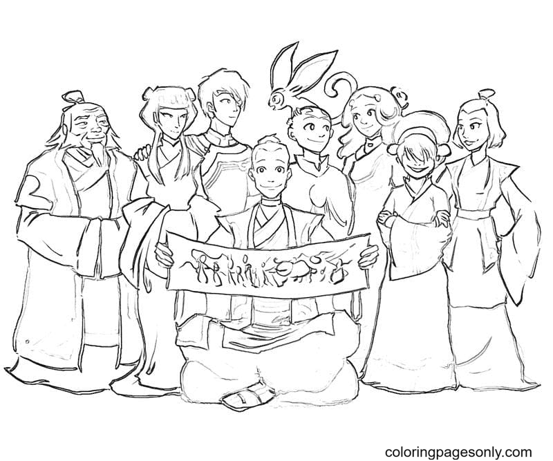 The Legend of Aang Coloring Page
