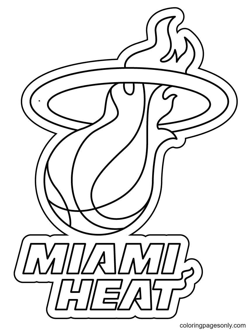 The Miami Heat Coloring Page