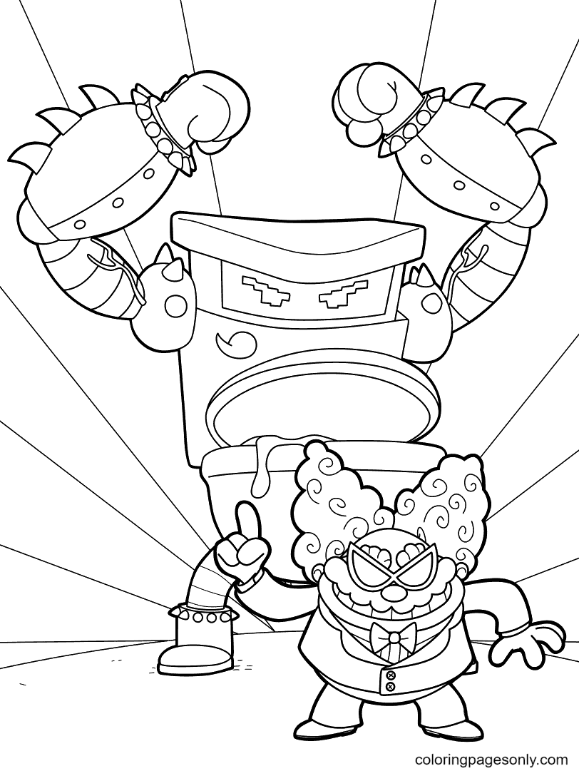 The Turbo Toilet And Poopypants Coloring Page