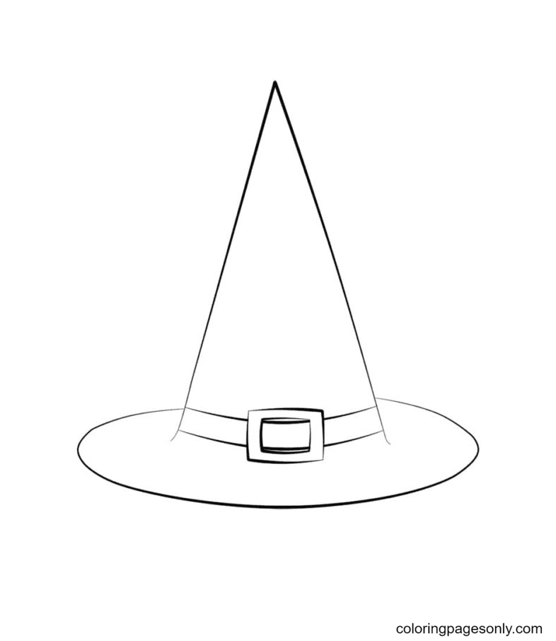 The Witch Hat Coloring Page