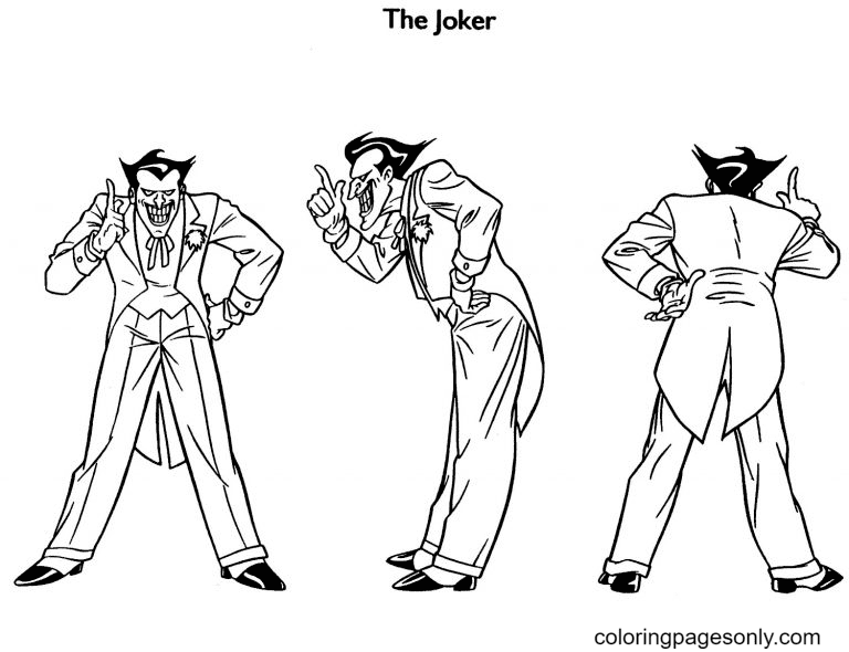 Three Jokers Coloring Page
