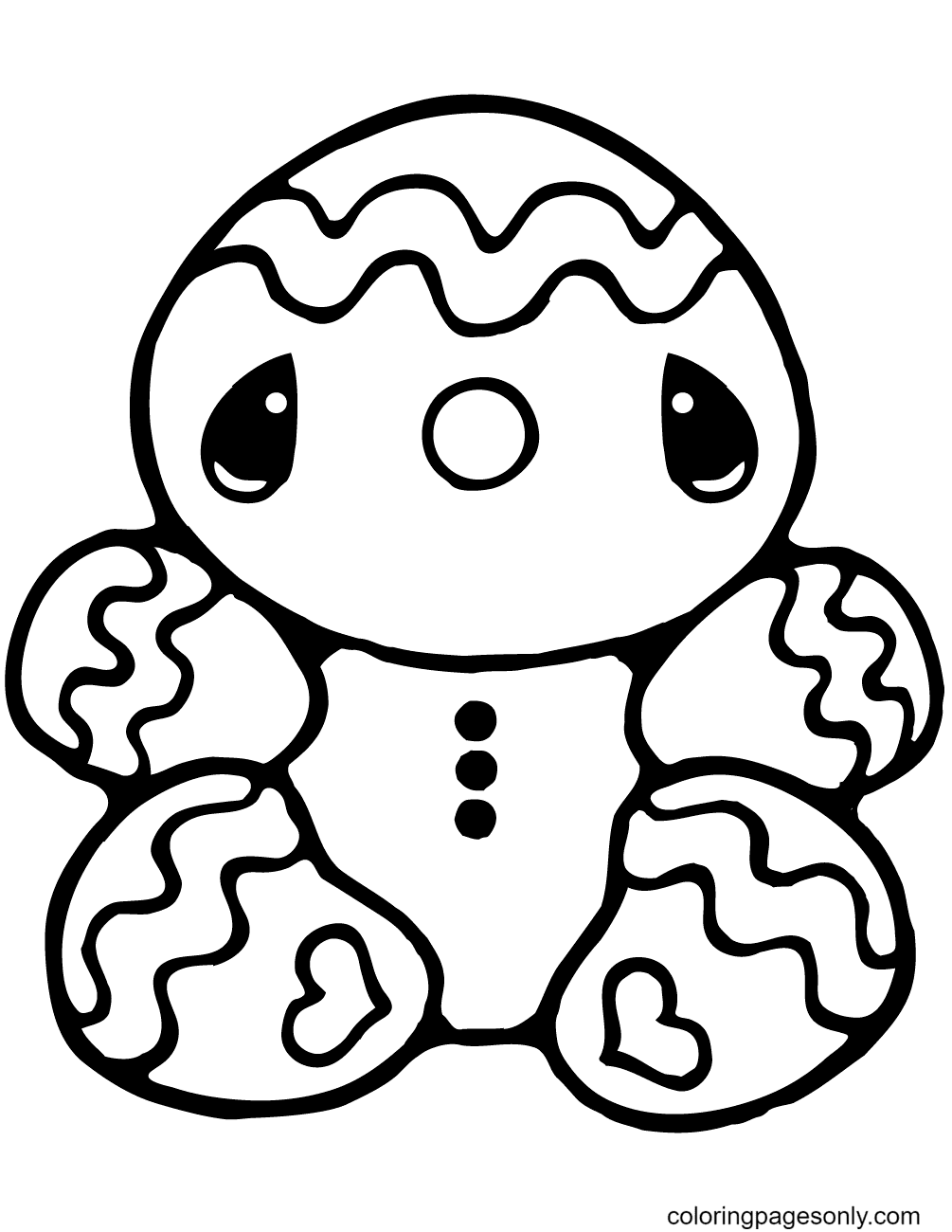 Tiny Gingerbread Man Coloring Page