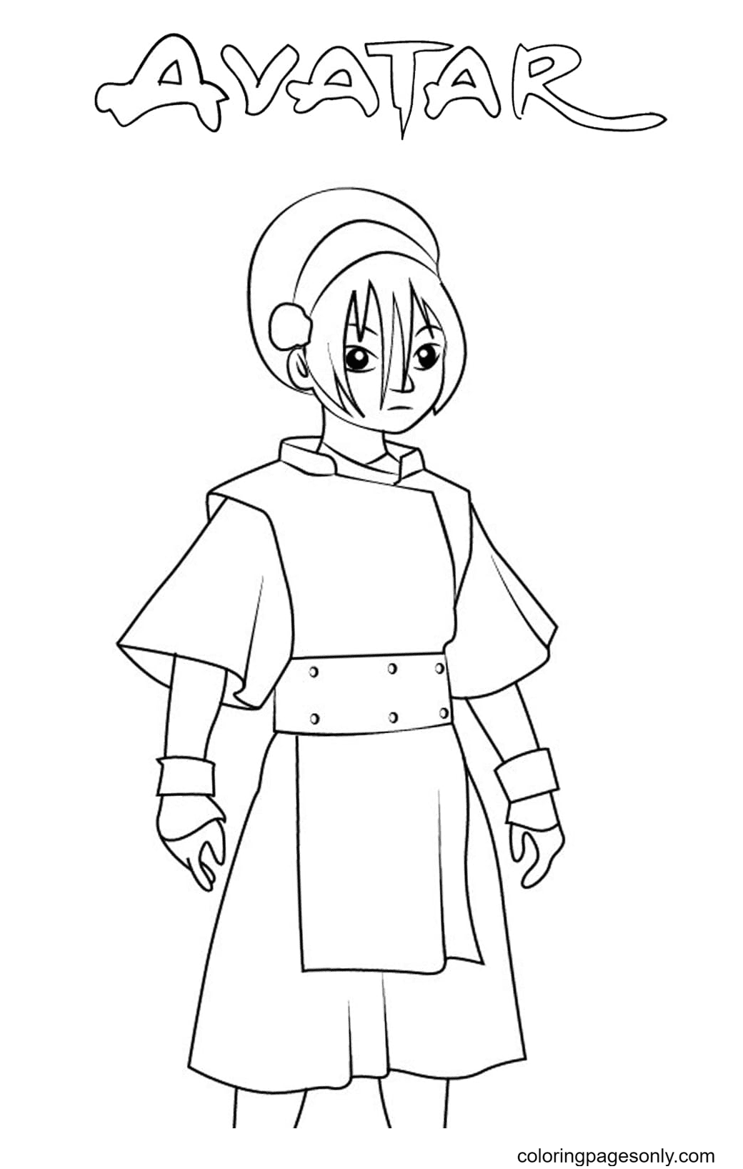 Toph Beifong Coloring Page