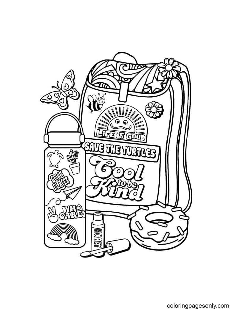 Traveler Aesthetics Coloring Page