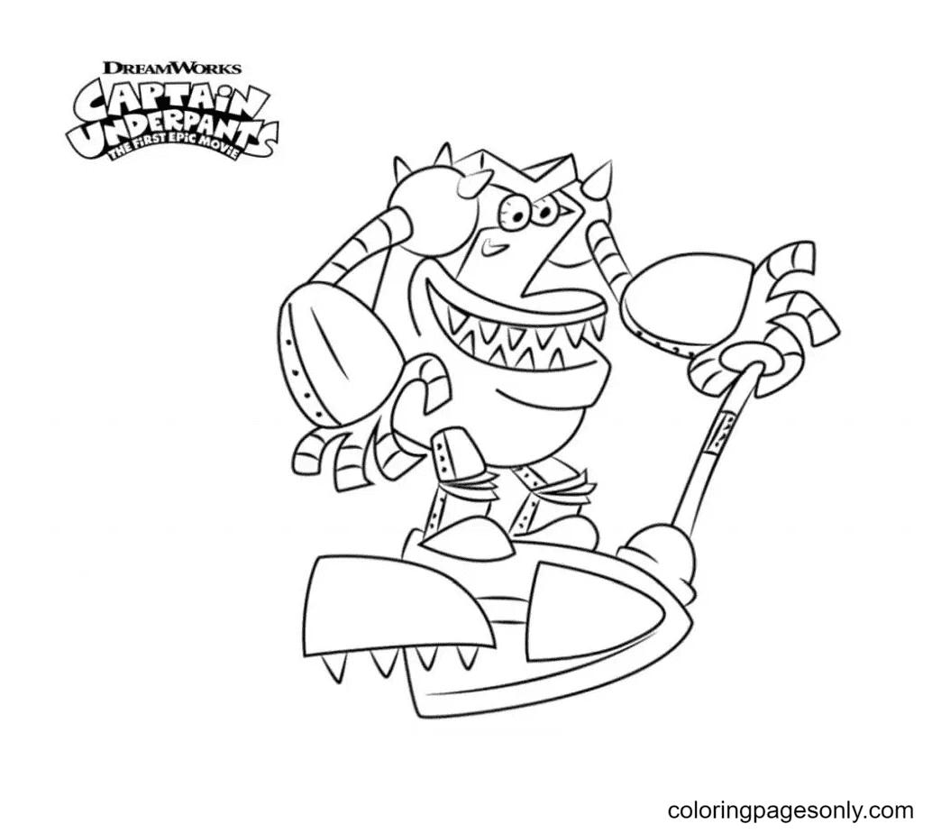 Turbo Toilet Coloring Page