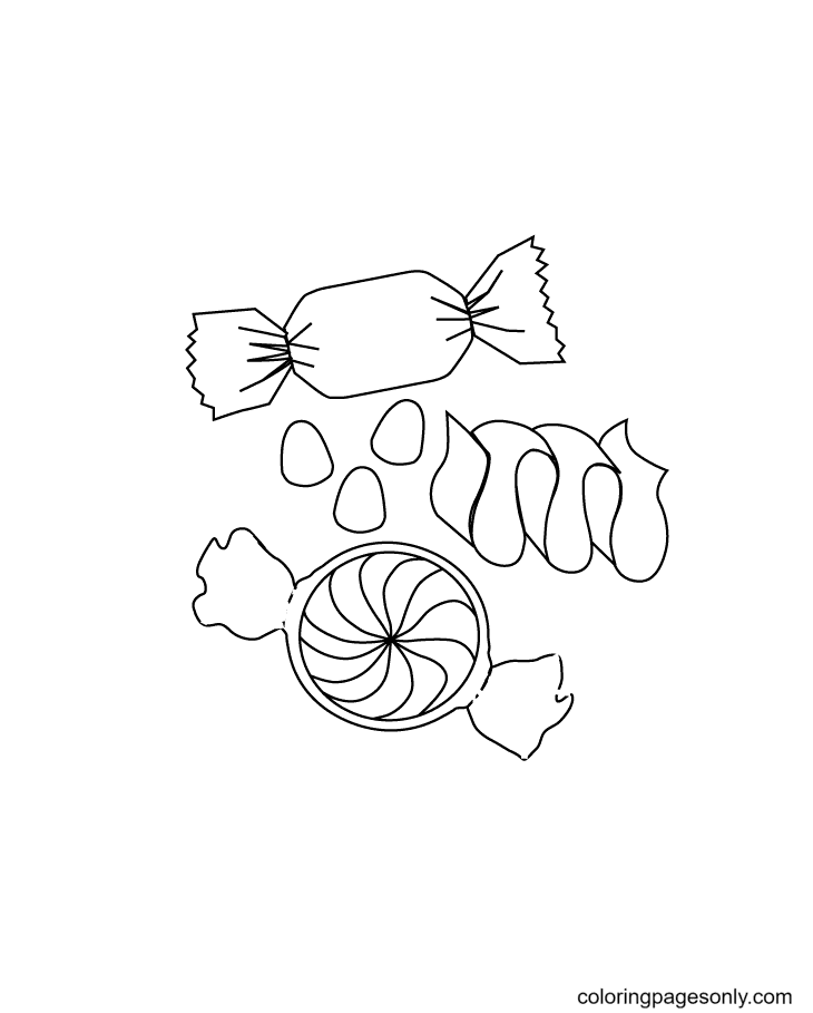 Twisted Candy Coloring Page
