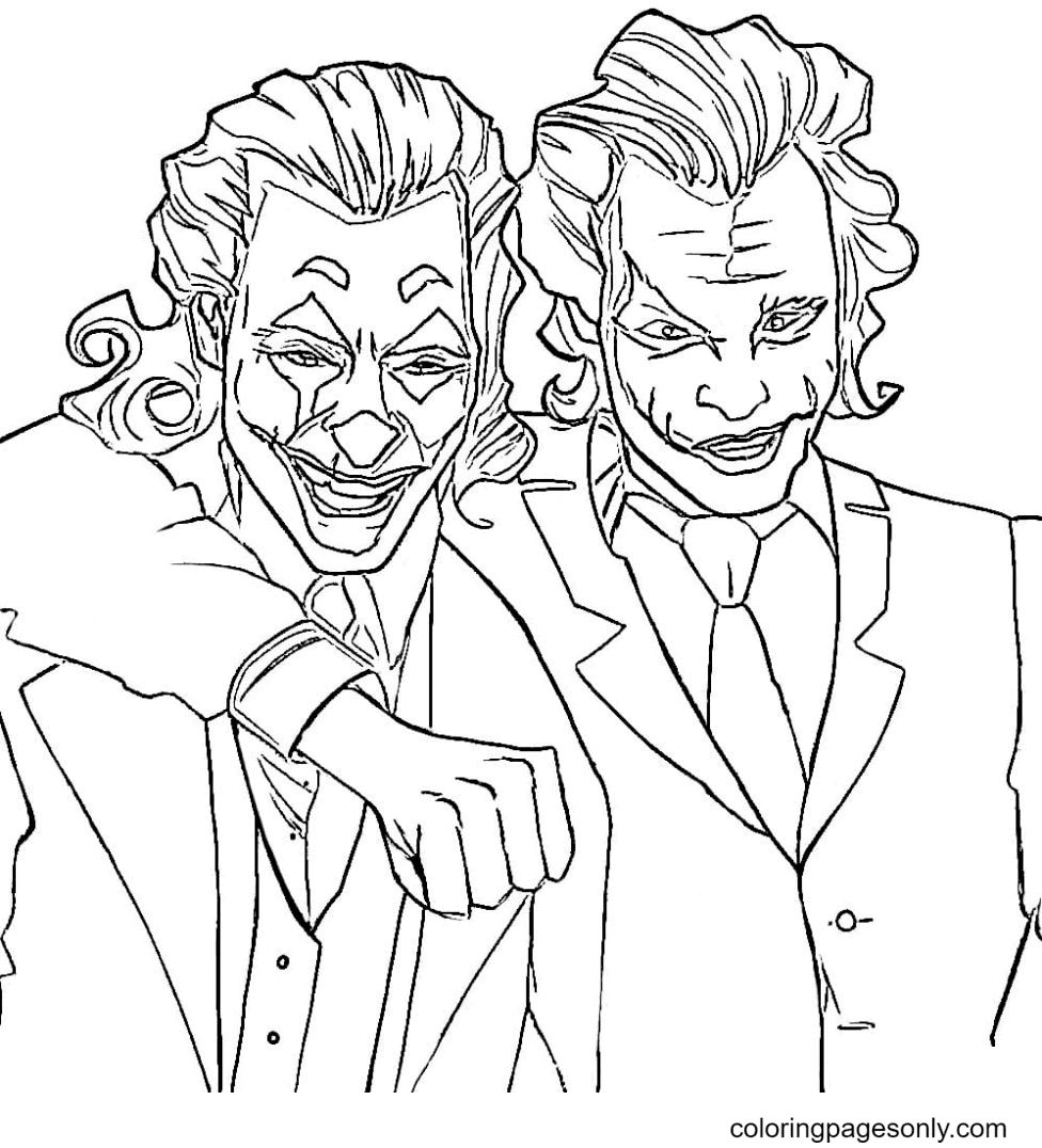 Two Jokers Coloring Page