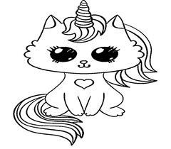 Unicorn Cat Coloring Pages