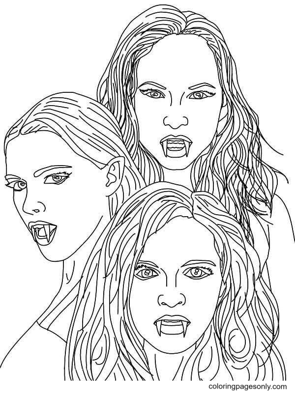 Vampire Diaries Coloring Page