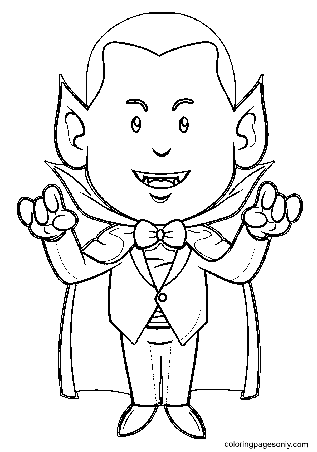 Vampire Free Coloring Page