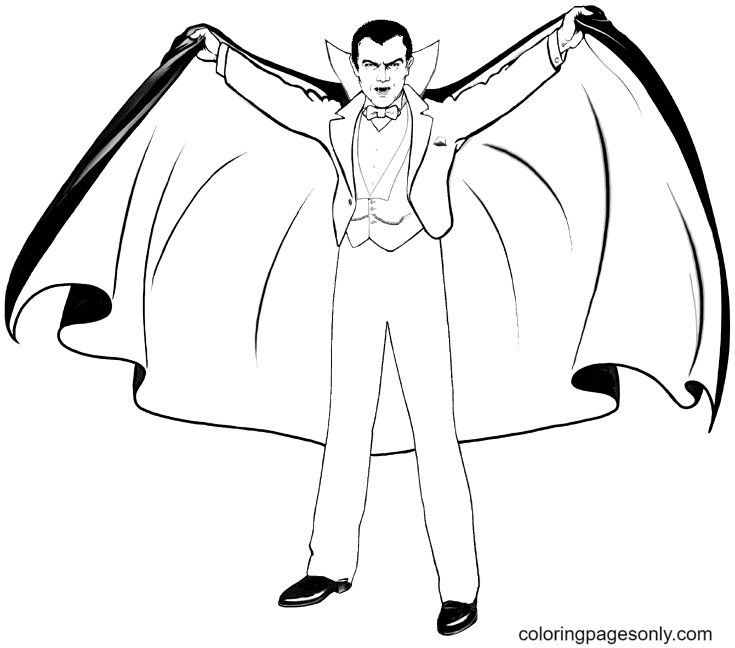 Vampire Printable Coloring Page