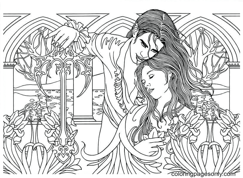 Vampires Are Cold Coloring Page