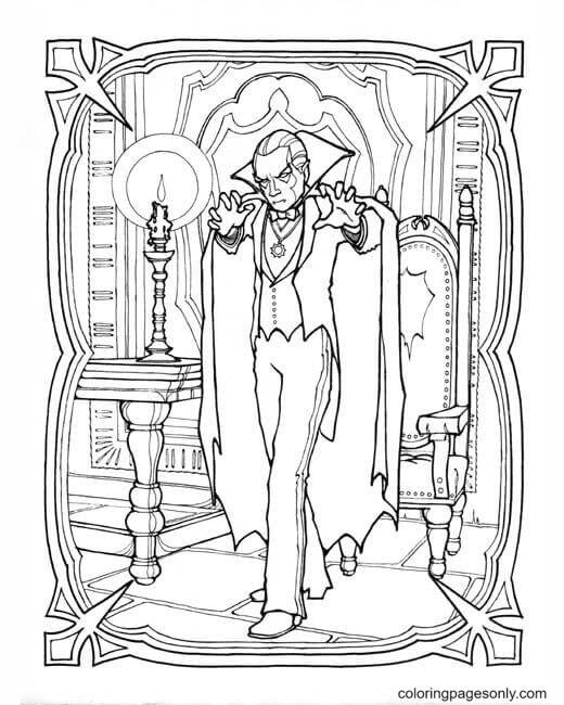 Vampires Powers Coloring Page