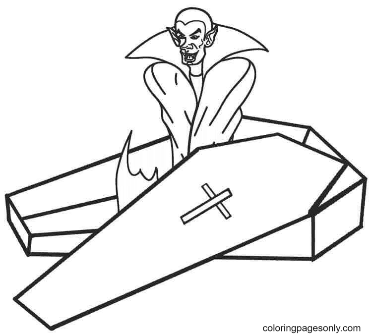 Vampire's Resting Place Coloring Page