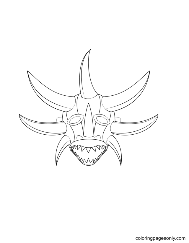 Vejigante Mask Coloring Page