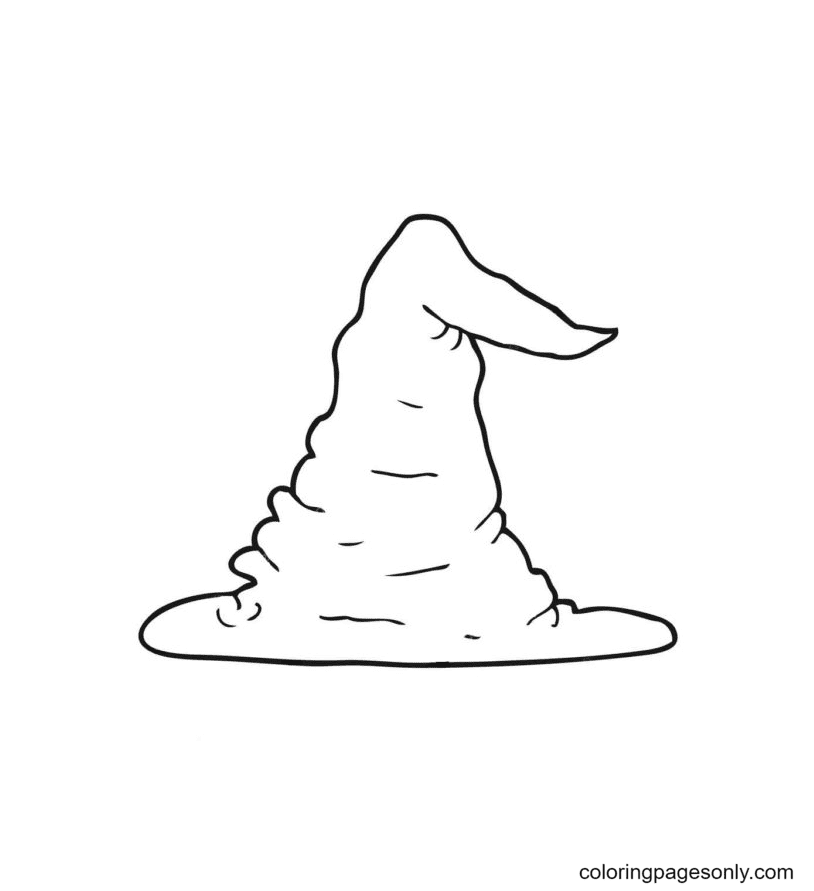 Witch Hat is like Sand Mountain Coloring Page