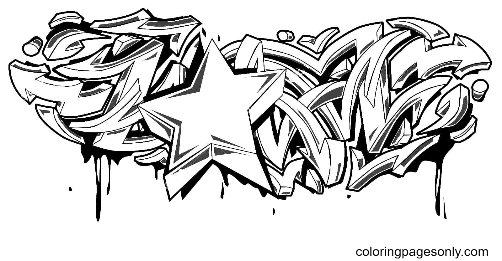 With a star Coloring Page