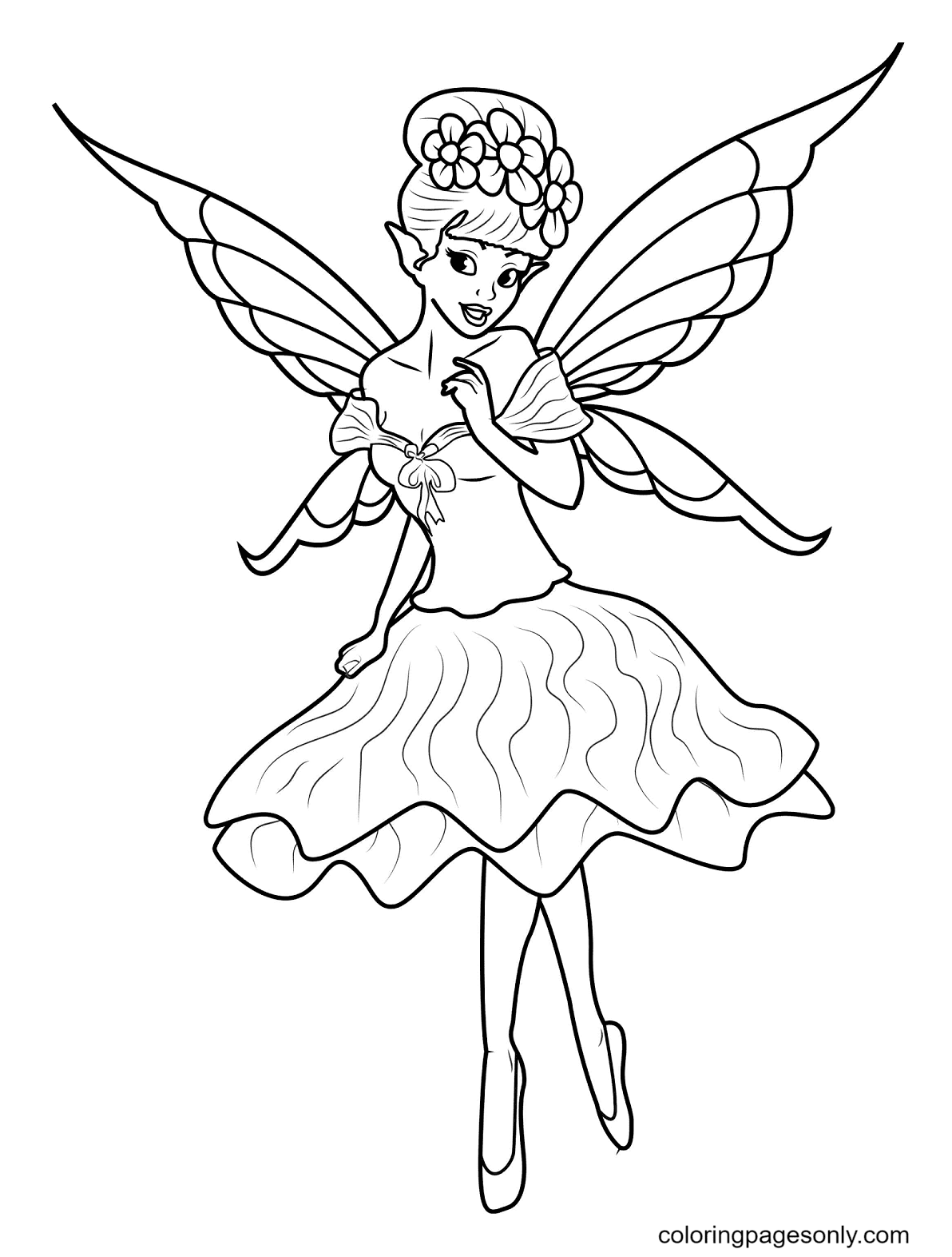Young Fairy Coloring Page