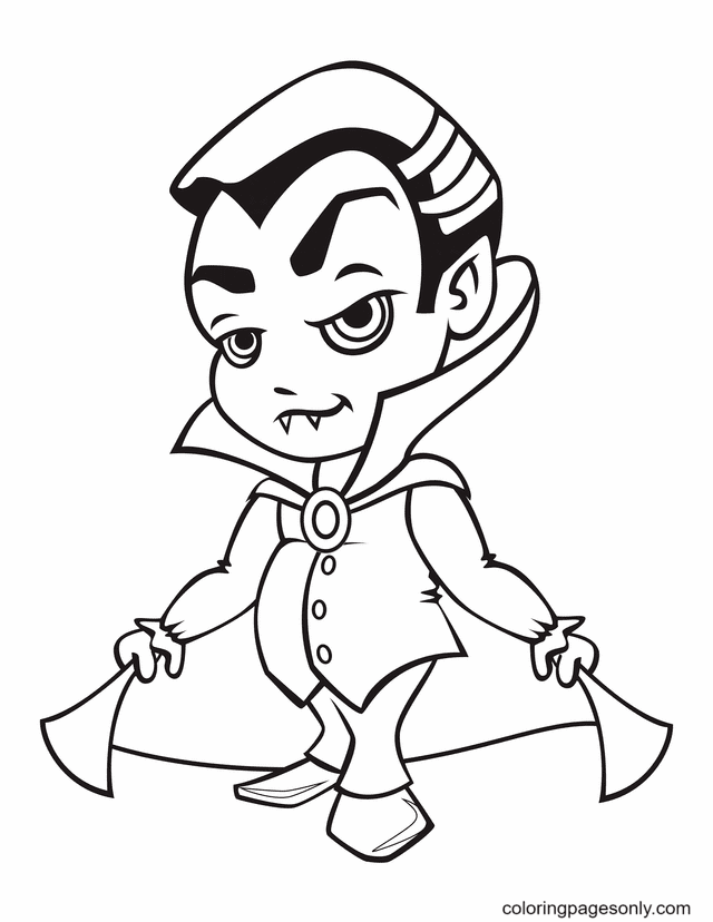Young Vampire Coloring Page