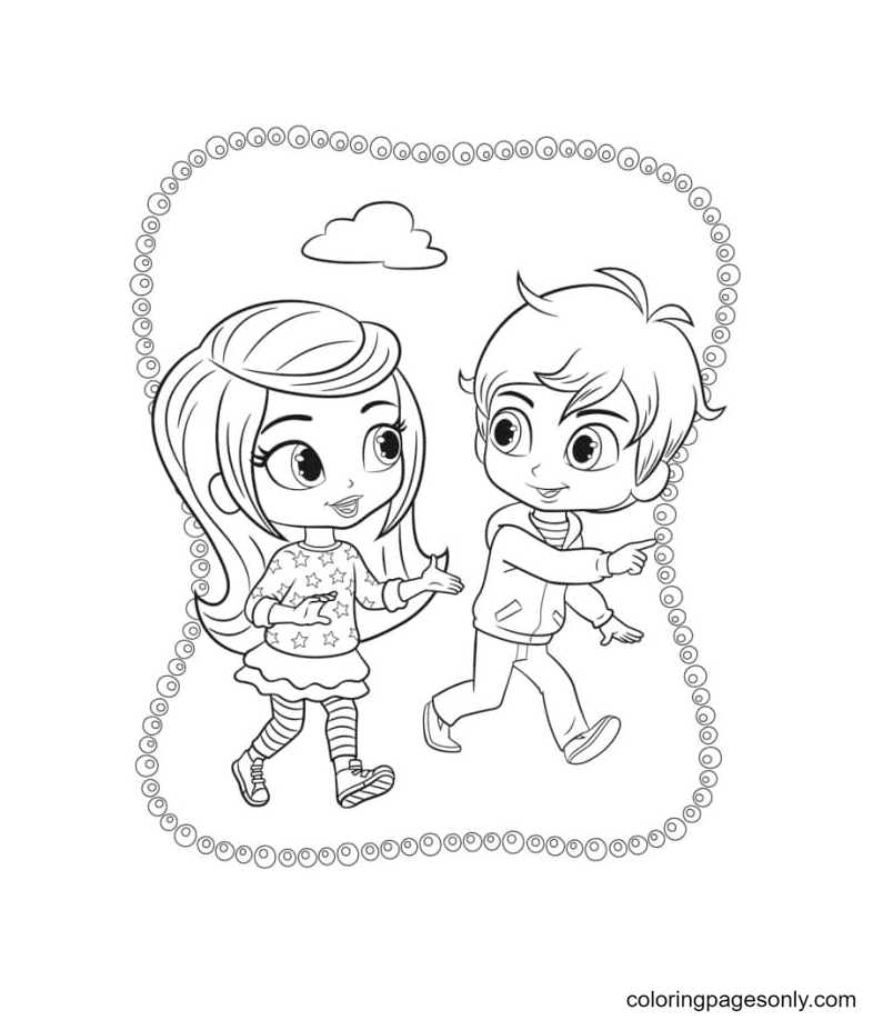 Zac and Leah Coloring Page