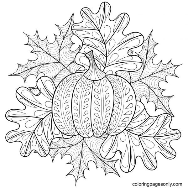 Zen Pumpkin Zentangle Coloring Page