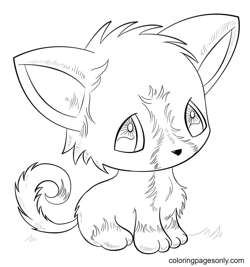 Adorable Little Fox Coloring Page