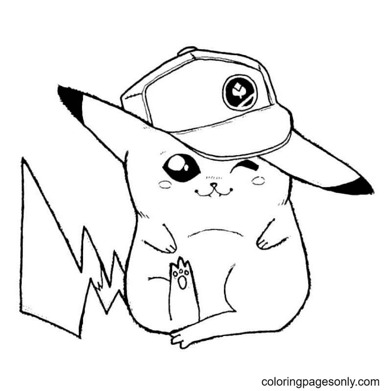 Adorable Pokemon Pikachu Coloring Page